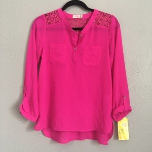 GB Girls bright pink blouse